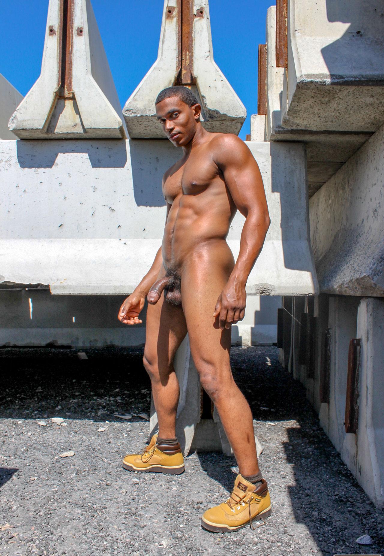 Desnudo muscular negro hombres fotos