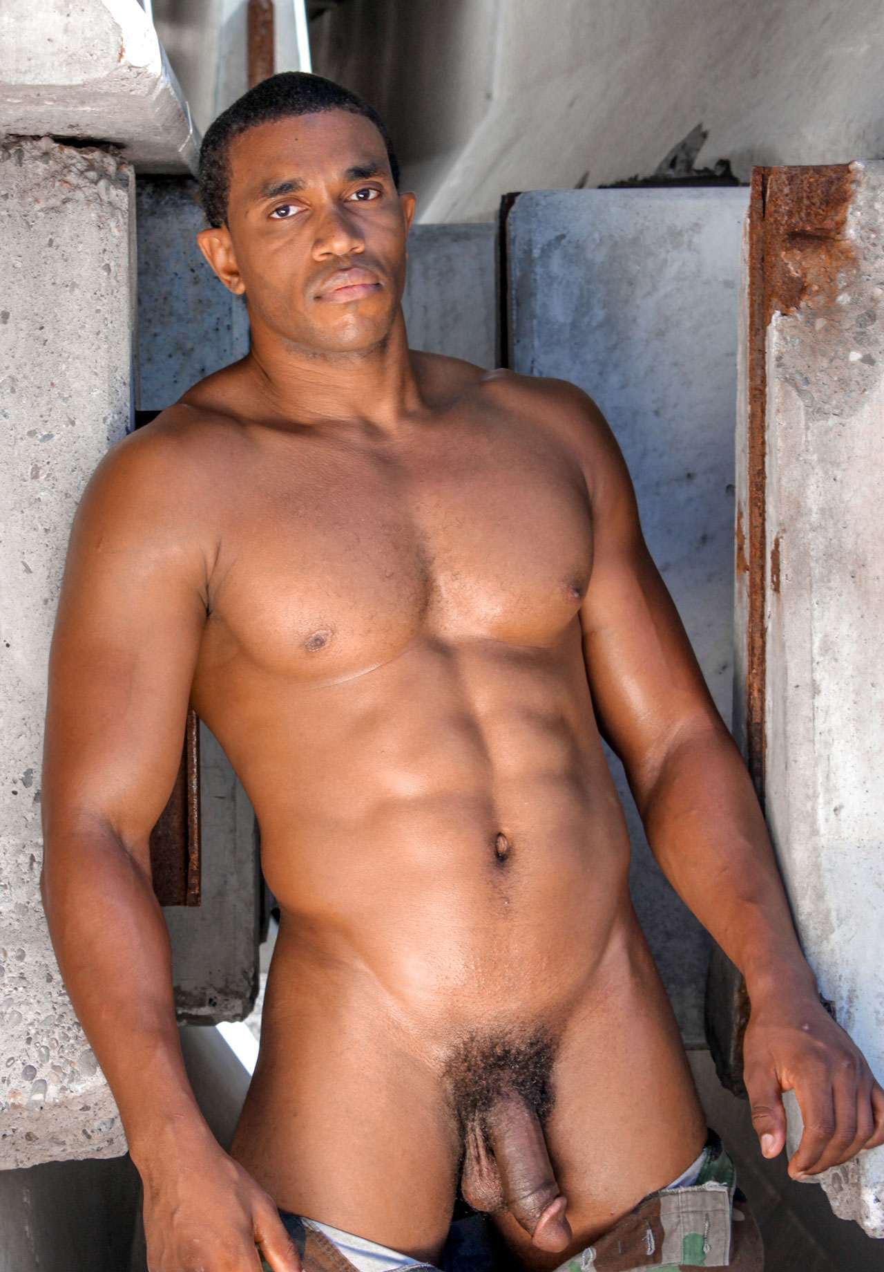 sexy half naked black men